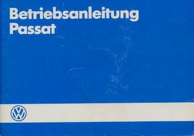 VW Passat Bedienungsanleitung 1.1985