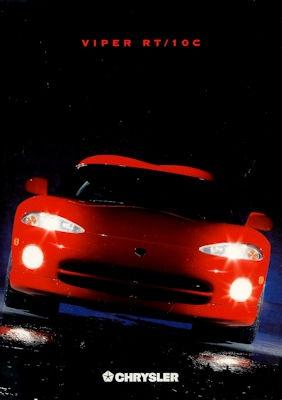 Chrysler Viper RT / 10 C Prospekt 1996