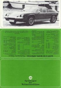 Lotus Europa Special Prospekt ca. 1970