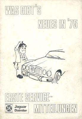 Jaguar Erste Service Information 1975