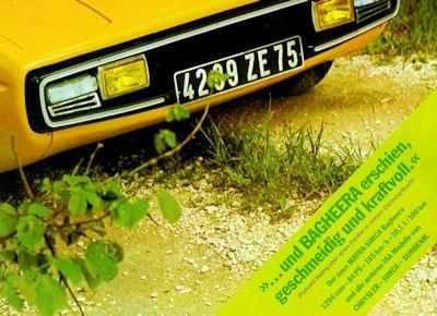 Simca Matra Bagheera Prospekt ca. 1974
