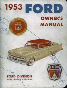 Ford Bedienungsanleitung 1953 e