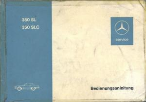 Mercedes-Benz 350 SL SLC Bedienungsanleitung 7.1972