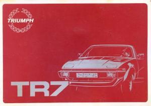 Triumph TR 7 Bedienungsanleitung 1981