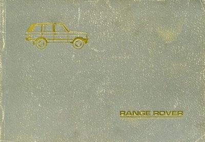 Range Rover Bedienungsanleitung 1985