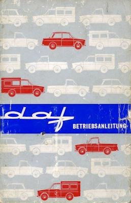 Daf Bedienungsanleitung 9.1963
