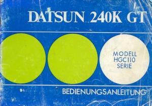 Datsun 240K GT Bedienungsanleitung 1974