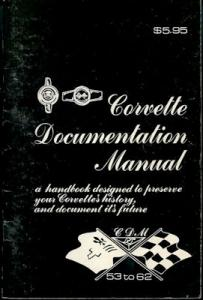 Chevrolet Corvette Documentation Manual 1953-1962 von 1978