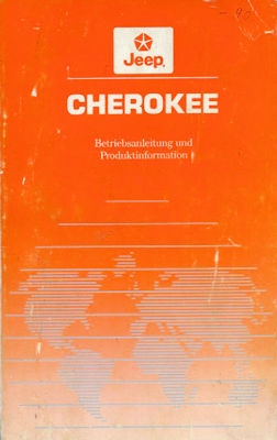 Jeep Cherokee Bedienungsanleitung 9.1989