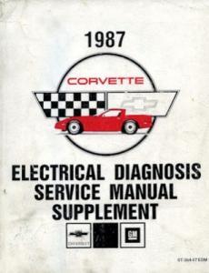 Chevrolet Corvette Reparaturanleitung Elektrik Nachtrag 1987