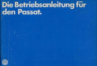 VW Passat Bedienungsanleitung 8.1979