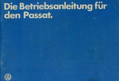 VW Passat Bedienungsanleitung 1.1982