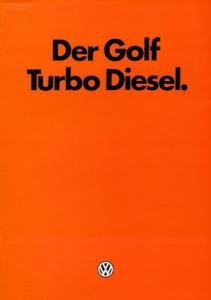 VW Golf 1 Turbo Diesel Prospekt 3.1982
