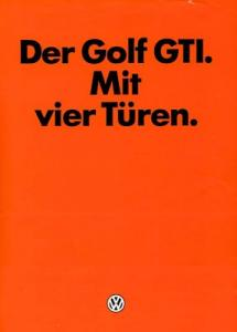 VW Golf 1 GTI Prospekt 12.1981