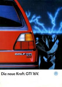 VW Golf 2 GTI Prospekt 10.1985
