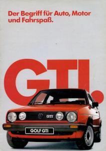 VW Golf 2 GTI Prospekt 1.1985