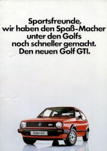 VW Golf 2 GTI Prospekt 9.1983