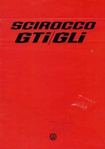 VW Scirocco GTI / GLI Prospekt 8.1976