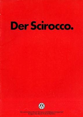 VW Scirocco 2 Prospekt 8.1985