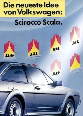 VW Scirocco 2 Scala Prospekt 9.1986
