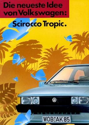 VW Scirocco 2 Tropic Prospekt 3.1986