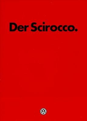 VW Scirocco 2 Prospekt 8.1983