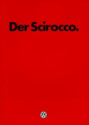 VW Scirocco 2 Prospekt 1.1984