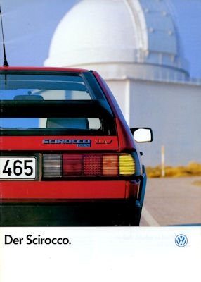VW Scirocco 2 Prospekt 7.1986
