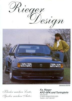 VW / Rieger Scirocco 2 GTO Prospekt 1980er Jahre