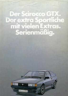 VW Scirocco 2 GTX Prospekt ca. 1985