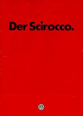 VW Scirocco 2 Prospekt 8.1982