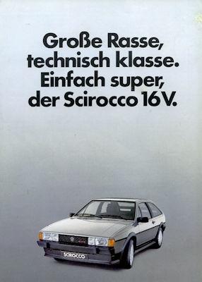 VW Scirocco 2 16 V Prospekt 8.1983