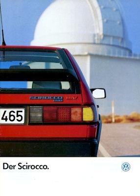 VW Scirocco 2 Prospekt 1.1987