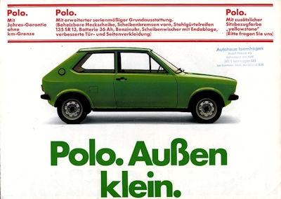 VW Polo 1 Prospekt 3.1975