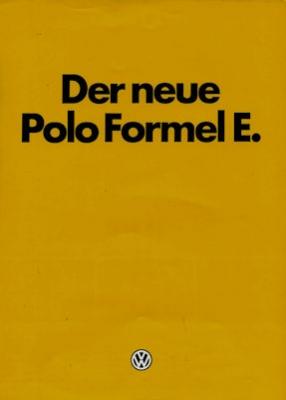 VW Polo 1 Formel E Prospekt 11.1980
