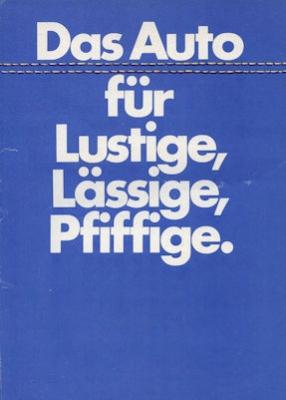 VW Polo 1 Jeans Prospekt 8.1976