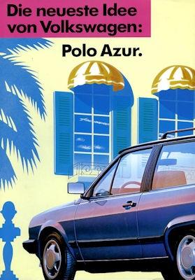 VW Polo 2 Azur Prospekt 2.1989