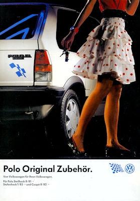 VW Polo 2 Zubehör Prospekt 10.1988