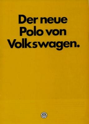 VW Polo 2 Prospekt 9.1981