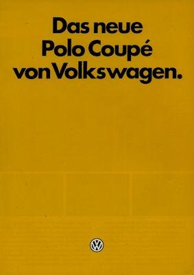VW Polo 2 Coupé Prospekt 9.1982