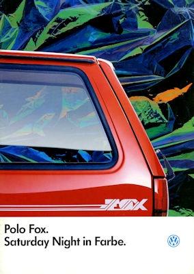 VW Polo 2 Fox Prospekt 1.1986