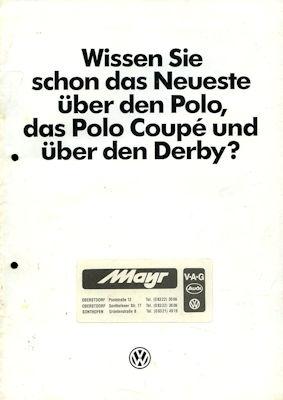 VW Polo 2 / Derby 2 Das Neuste! Prospekt 6.1984