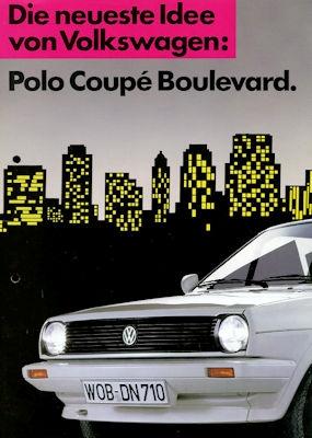 VW Polo 2 Coupe Boulevard Prospekt ca. 1985
