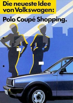 VW Polo 2 Coupe Shopping Prospekt ca. 1985
