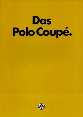 VW Polo 2 Coupé Prospekt 8.1984