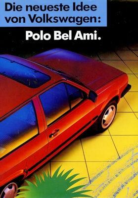 VW Polo 2 Bel Ami Prospekt ca. 1989