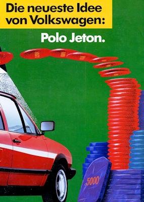 VW Polo 2 Jeton Prospekt ca. 1990