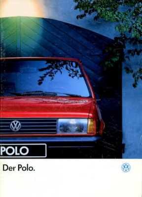 VW Polo 2 Facelift Prospekt 8.1991