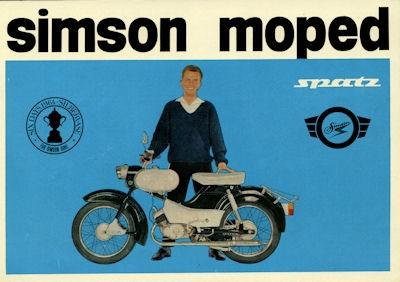 Simson Moped Spatz SR 4-1 Prospekt 1965