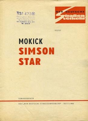Simson Mokick Star Test 1965